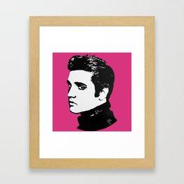 Elvis in the Pink Framed Art Print