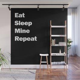 Eat, Sleep, Mine, Repeat Wall Mural