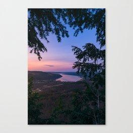 Sunset over Keuka Canvas Print
