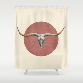 Longhorn - colour option Shower Curtain