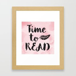 Time to Read - Pink  Framed Art Print