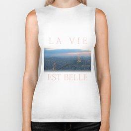 La Vie Est Belle Biker Tank