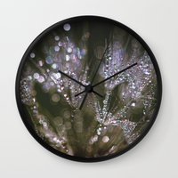 glitter Wall Clocks featuring glitter by Bonnie Jakobsen-Martin