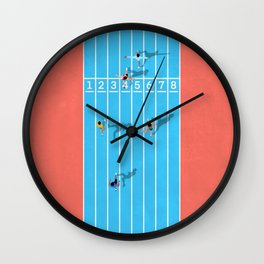100m  Wall Clock