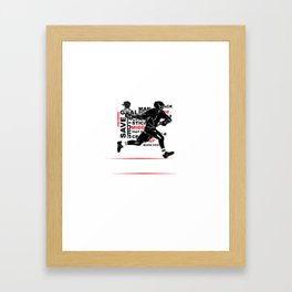 Cool Lacrosse Player Outdoors Sports Team Typography Framed Art Print