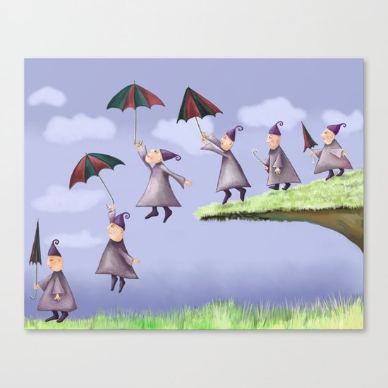 Floating Down Canvas Print