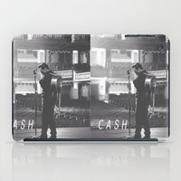 johnny cash iPad Cases featuring Johnny Cash by Earl of Grey