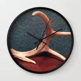 Deer antler Wall Clock