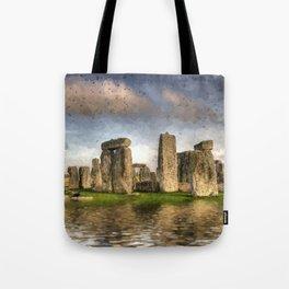Stone Henge Landscape Tote Bag