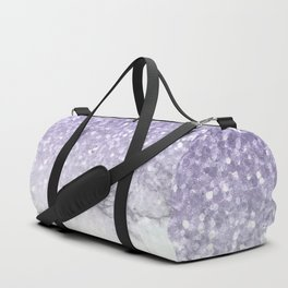 Unicorn Purple Glitter Marble Duffle Bag