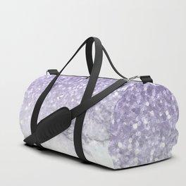 Unicorn Purple Glitter Marble Duffle Bag