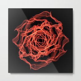 Fire Floral Design Metal Print