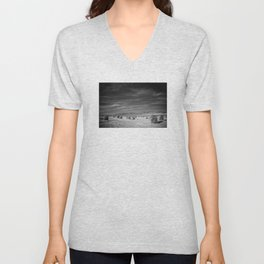 bringing water from a distant spring Unisex V-Neck