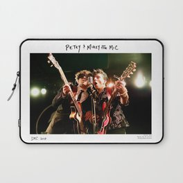 Birds in the Boneyard, Print One: Petey and Mikey on the Mic Laptop Sleeve