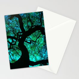 Under The Tree Blue and Green Stationery Cards