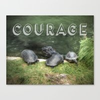 courage Canvas Prints featuring Courage by Judith Lee Folde Photography & Art