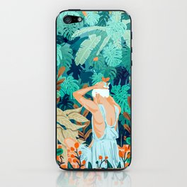 Backyard #illustration #painting iPhone Skin