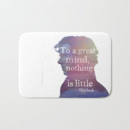 great minds - sherlock Bath Mat