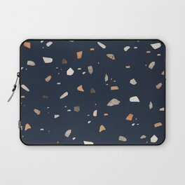 Midnight Navy Terrazzo #1 #decor #art #society6 Laptop Sleeve
