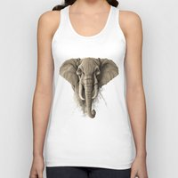 elephant Tank Tops featuring Elephant by Rafapasta