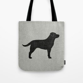 Black Labrador Retriever Silhouette Tote Bag