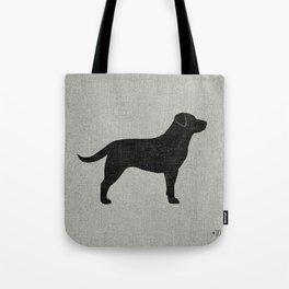 Black Labrador Retriever Silhouette Tote Bag