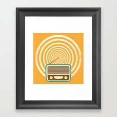 Mixed Signals - Yellow Framed Art Print
