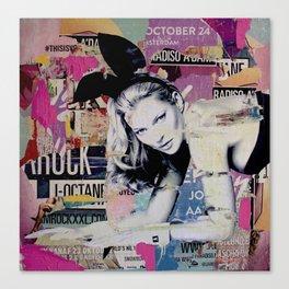 Kate Moss is playin' bad bunny Canvas Print