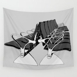 Airport Chairs Grey Wall Tapestry