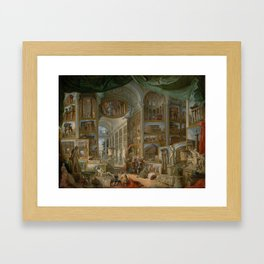 Ancient Rome by Giovanni Paolo Panini Framed Art Print