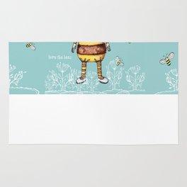 Love the BEES Whimsical Bee Girl Rug