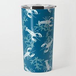 Lobster Toss Blue Travel Mug