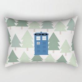 TARDIS lands in the Pacific Northwest Pine Tree Forest - Oregon, Washington, Portland, PDX, Seattle Rectangular Pillow