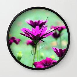 Daisies lilac Wall Clock