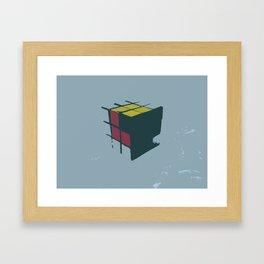 Rubik's Cube Framed Art Print