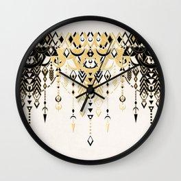 Modern Deco in Black and Cream Wall Clock