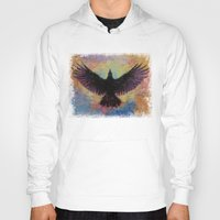 crow Hoodies featuring Crow by Michael Creese