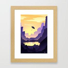 Umbrella's voyages Framed Art Print