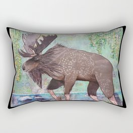 Lumbering Moose Rectangular Pillow