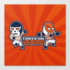 Los Luchadores Canvas Print