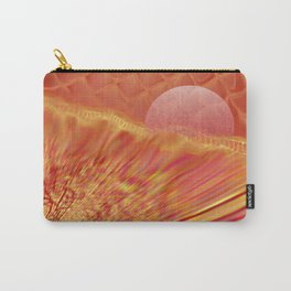Pink and Yellow Moon Carry-All Pouch