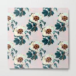 Flowery blooming with geometric Metal Print