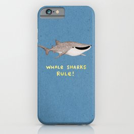 Whale Sharks Rule! iPhone Case