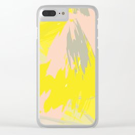 Lovely Summer - Abstract - Coral, Yellow, Sand Clear iPhone Case