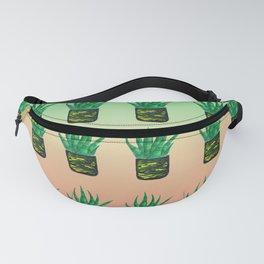 Snake plant pattern - Gradient Fanny Pack