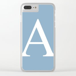 Letter A sign on placid blue color background Clear iPhone Case