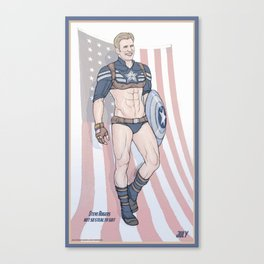 Steve Rogers Not So Stealth Suit Canvas Print
