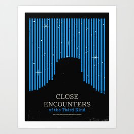 Close Encounters of the Third Kind Minimal Movie Poster Art Print