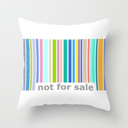 Not For Sale Barcode - Colorful Throw Pillow
