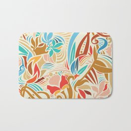 Abstract Florals Bath Mat